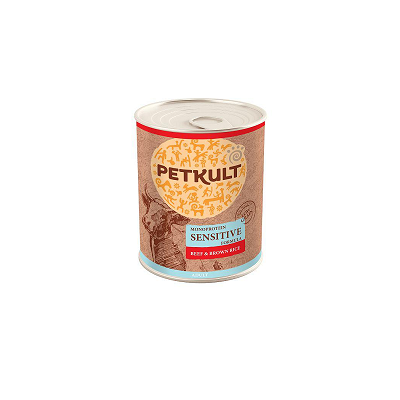 PETKULT dog konzerva SENSITIVE hovězí 800g