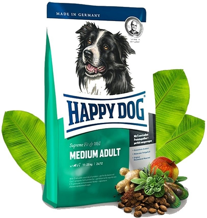 Happy dog Supreme Fit&Well Adult Medium 12,5kg